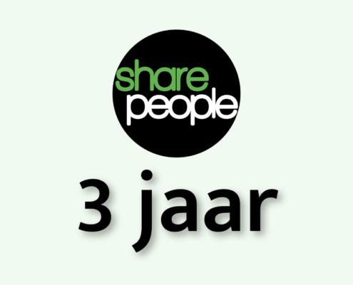 Drie jaar SharePeople